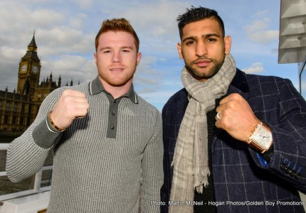 Canelo-Khan televised on HBO PPV on 5/7