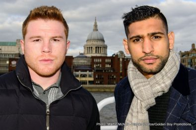 "Amir Khan Saul ""Canelo"" Alvarez Boxing News British Boxing"