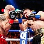 Kiko Martinez - (Photo Credit: Stephanie Trapp/SHOWTIME) In easily the most exciting fight of this weekend's fights, WBA featherweight champion Leo Santa Cruz (32-0-1, 18 KOs) stood in the trenches and slugged it out with the hard hitting Kiko Martinez (35-7, 26 KOs) in mowing him down in five thrilling rounds on Showtime Boxing on Saturday night at the Honda Center in Anaheim, California.