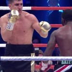 Ola Afolabi - Coming off of a bad knockout loss, 31-year-old former WBO cruiserweight world champion Marco Huck (39-3-1, 27 KOs) was able to score a 10th round TKO win tonight over IBO cruiserweight champion Ola Afolabi (22-5-4, 11 KOs) at the Gerry Weber Stadium in Halle, Germany. The fight was stopped by referee Jack Reiss after the 10th round had ended.