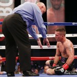 """Justin DeLoach - If you are a fan of brutal one-punch knockouts, chances are you will not find a more savage KO to satisfy your bloodlust than the one super-welterweight Justin DeLoach scored last night in Miami, Oklahoma. The 22-year-old known as """"The Chosen One,"""" absolutely ruined previously unbeaten (16-0) Dillon Cook with a sizzling right hand to the head in the 4th-round. The instant the shot landed, Cook was gone and he crumpled into a kind of sitting position with his legs underneath him. It was as destructive as it was scary."""