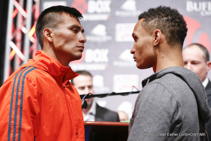 MIAMI, Okla. (March 24, 2016) – All eight fighters, including the six undefeated ones, made weight Thursday for the ShoBox: The New Generation quadrupleheader tomorrow/Friday March 25, live on SHOWTIME (10:30 p.m. ET/PT, delayed on the West Coast) from Buffalo Run Casino.