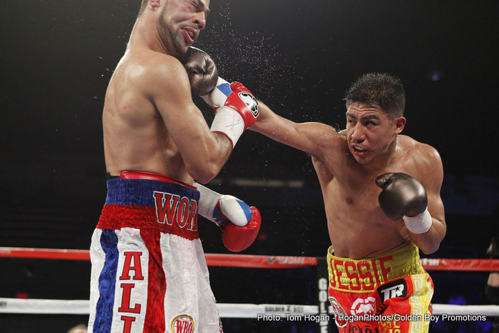 Jessie Vargas - Once-beaten Jesse Vargas, who won the vacant WBO welterweight title with an impressive 9th-round stoppage of Sadam Ali this past Saturday, has a number of fighters in mind for future showdowns, but when it comes to the one man Vargas, 27-1(10) really wants, there is one stand out choice: Tim Bradley, the man who gave Vargas his sole career defeat.