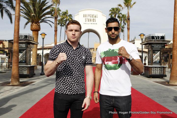 "Amir Khan Saul ""Canelo"" Alvarez Boxing News British Boxing"
