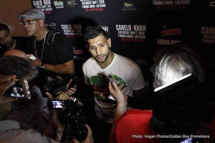 "Amir Khan Carl Froch Saul ""Canelo"" Alvarez Boxing News"