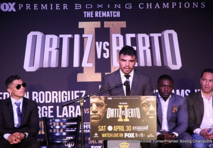 Ortiz vs Berto, Rodriguez & Williams Interview Transcript