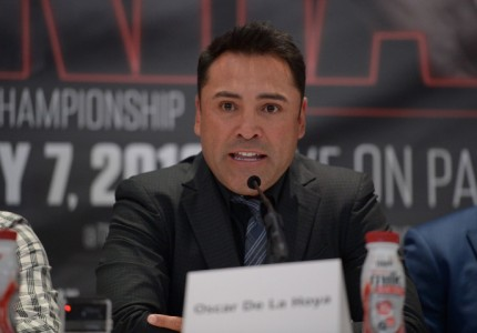 "Rematch clause for Canelo-Khan, but De La Hoya says ""believe me"" Canelo-Golovkin ""will happen very soon."""