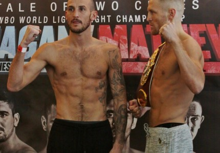 Flanagan and Mathews make weight