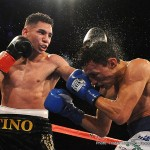 """Manuel Avila -  LA FIGHT CLUB on April 1 continues to bring the best boxing to Los Angeles as Fairfield, Calif.'s Manuel """"Tino"""" Avila (20-0, 8 KOs)took on Nicaraguan warrior Rene """"Gemelo"""" Alvarado (23-7, 16 KOs) in an exciting 10-round featherweight bout from the Downtown  Belasco  Theater broadcast live on Boxeo Estellar on Estrella TV. The nearly sold out event saw the likes of an exciting group of special guests including NBA superstar and Los Angeles Laker's player Metta World Peace and Golden Boy stable mates Hector """"El Finito"""" Tanajara, Chirstian """"Chimpa"""" Gonzalez, Jesus """"Renuente"""" Soto Karass, Carlos """"The Solution"""" Morales, Francisco """"El Bandido"""" Vargas, Nick Arce, Rafael Gramajo, Oscar """"El Jaguar"""" Negrete and Jonathan """"Thunder"""" Navarro."""