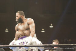 "Adrien Broner, Ashley Theophane - By Justin Jones & Paul ""Paparazzi"" Jones - Photos © Paul ""Paparazzi"" Jones -- Washington, DC — Adrien ""The Problem"" Broner (32-2, 24 KOs) is accustomed to making headlines inside and out of the ring. Last night, he did both in a matter of hours."