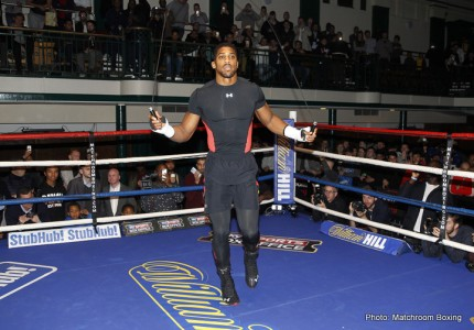 "Anthony Joshua speaks about the ""war"" he had in the gym with Tyson Fury; mutual respect"