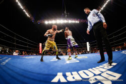 "Adrien Broner, Ashley Theophane - (Photo credit: Nabeel Ahmad/Premier Boxing Champions)  Four-division world champion Adrien ""The Problem"" Broner didn't have much of a problem beating and stopping Ashley ""The Treasure"" Theophane at 1:10 in the ninth round in the main event of tonight's Premier Boxing Champions (PBC) on Spike event in front of a sold out crowd of 8,172 at the DC Armory in Washington, D.C."
