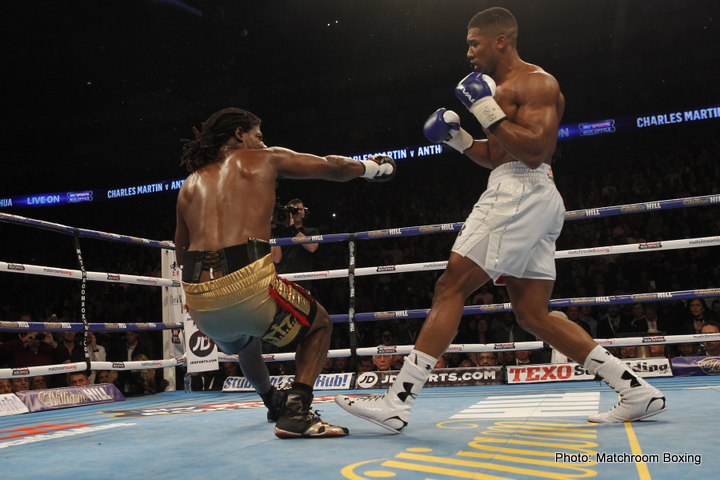 Anthony Joshua Charles Martin Boxing News Boxing Results British Boxing