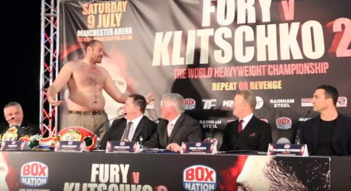 "Watch the video filmed by Kugan Cassius over at IfilmTV (scroll below to find) if you cannot be bothered to read about the highlights today's Tyson Fury-Wladimir Klitschko press conference gave us in Manchester, but either way, fans have to agree: Fury, out of shape (by his own admission) and not at all in love with boxing (far from it, Fury said today that he ""hates"" boxing) simply does not care what anyone thinks about him."