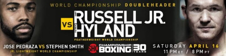 "MASHANTUCKET, Conn. (April 4, 2016) - Always tough Patrick ""Punisher"" Hyland (31-1, 15 KOs) will be fighting for Irish boxing history Saturday, April 16 as he challenges WBC Featherweight World Champion Gary Russell Jr. (26-1, 15 KOs) in the 12-round main event, airing live on SHOWTIME from Foxwoods Resort Casino in Mashantucket, CT."