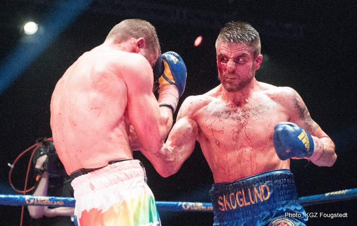 Ryno Liebenberg - Erik Skoglund continued his unbeaten streak with a heroic performance against Ryno Liebenberg to claim the IBO International Light Heavyweight title last night at the Hovet in Stockholm.
