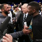Lucian Bute - By Justin Jones - Washington, DC — Current Super Middleweight titleholders James DeGale, IBF Champ,(23-1, 14 KOs)and Badou Jack, WBC Champ,(20-1-2, 12 KOs)can now shift their focus on each other –late summer or early fall showdown – after neither fighter relinquished their belts last night at the DC Armory.