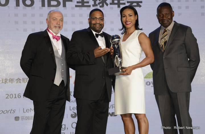 Cecilia Braekhus - Five times World Champion and female superstar Cecilia Braekhus was thrilled after participating at the 33rd IBF convention in Beijing, China this week.