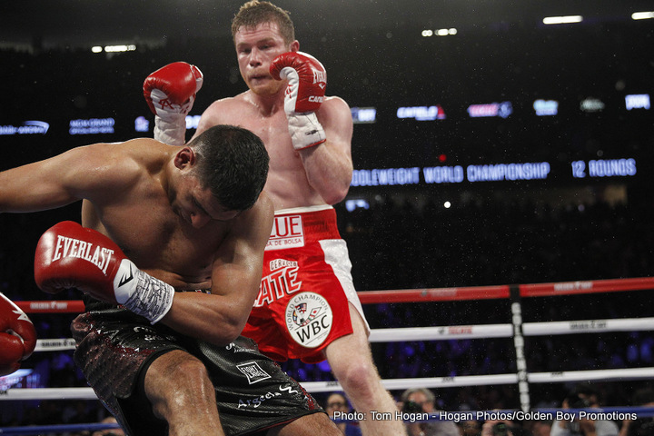 "Amir Khan Saul ""Canelo"" Alvarez Boxing News Boxing Results"