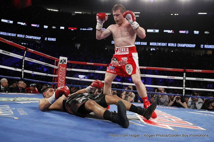 "Saul ""Canelo"" Alvarez - Mexican superstar Saul Canelo Alvarez will fight again on September 17th, RingTV.com reports - but there are three different venues being considered for Canelo's return and, more seriously, no confirmed opponent. Alvarez will fight, Golden Boy's Eric Gomez says, either at The MGM in Las Vegas, at Madison Square Garden in New York or at AT&T Stadium in Arlington, Texas. At which weight? Gomez says Alvarez will box anywhere from 154 to 160, with ""everybody"" in that weight range being considered as an option."