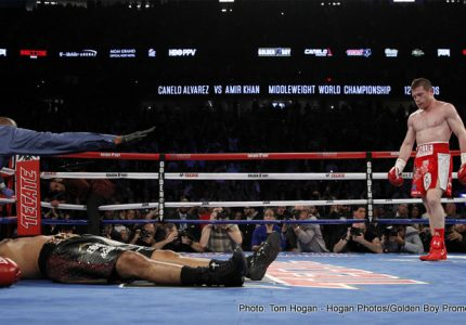 Amir Khan Tweets he is okay after suffering brutal KO at the hands of Canelo Alvarez