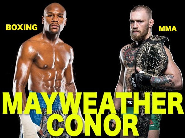Floyd Mayweather Jr - Talk of a possible Boxing Vs. MMA super-fight between Floyd Mayweather Junior and Conor McGregor refuses to go away, as seemingly unrealistic as it is that the fight actually takes place. Last night, in adding to the speculation that the fight might happen, Mayweaather uploaded a fight poster hyping the would-be fight - with images of himself and McGregor and the title: Mayweather Conor Live on Pay-Per-View. There is no date on the poster.