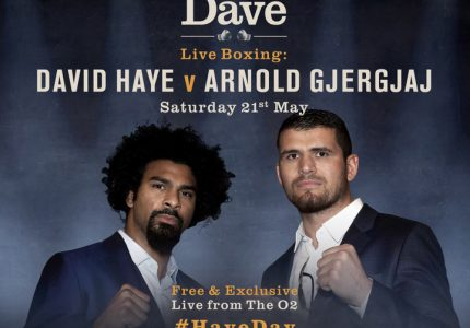 Haye vs Gjergja – The Hayemaker returns to Dave