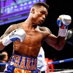 """Jermell Charlo - The co-feature is a terrific bout for the WBC junior middleweight championship.  Jermell """"Iron Man"""" Charlo 28-0, 13 KOs from Houston, Texas against Charles Hatley, 26-1-1, with 18 KOs from Dallas, Texas.  So we got a battle of Texas and Brooklyn on April 22.  As most of you know Jermell's brother is Jermall.  They're one minute apart.  Jermell's one minute younger."""