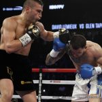 """Jason Quigley - Former IBF Middleweight World Champion David Lemieux (35-3, 32 KOs) dominated against Glen """"Jersey Boy"""" Tapia (23-3, 15 KOs) with a technical knockout in the fourth of 10 scheduled rounds to claim the vacant NABO Middleweight Title. In the fourth round, Lemieux knocked Tapia down hard to the canvas, giving the fighter his first career knockdown. Tapia jumped up quickly, but his corner waved off the fight, leaving him pleading with them not to stop it."""