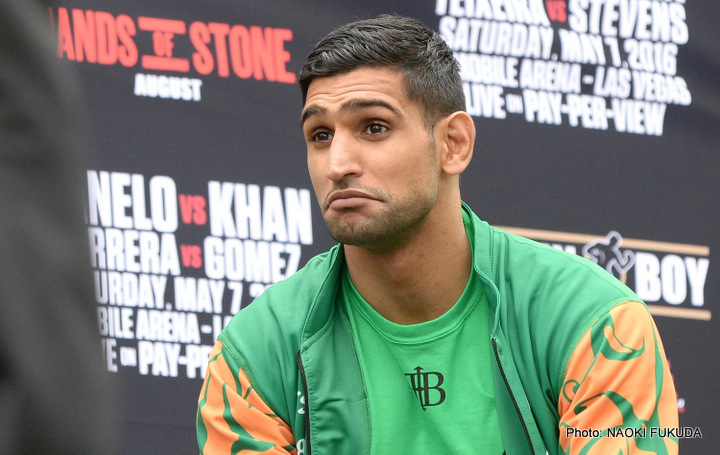"Amir Khan, Danny Garcia, Kell Brook - British star Amir Khan once said he would retire at age 30. The former 140-pound king hits 30 this December, yet Khan has plenty of big plans for next year. Speaking with ESPN.com, Khan said he feels he has ""about five fights left,"" and that he will look to return to action next summer. Khan will have been out of action for over a year by next May – last fighting on May 7 of this year when he was brutally KO'd by the much bigger Canelo Alvarez – but he says he wants a big showdown with either Danny Garcia or Kell Brook next summer. And Khan wants his return to take place in the UK."