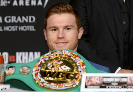De La Hoya says Canelo will fight Golovkin at middleweight limit