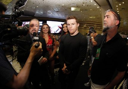 Canelo and Khan talk about Saturday's fight in Las Vegas