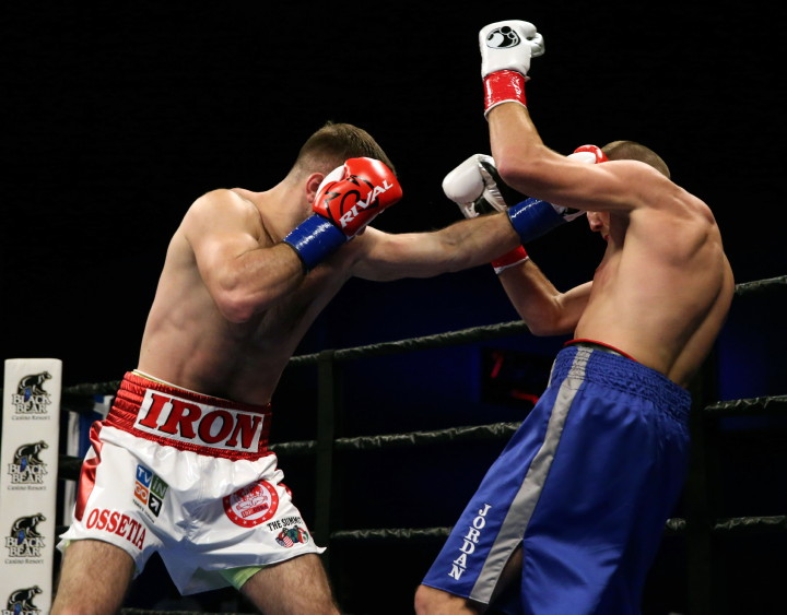 """Jordan Shimmell - (Photo credit: Andy Samuelson/Premier Boxing Champions) Showing very impressive punching power, undefeated Murat Gassiev (23-0, 17 KOs) made easy work of Jordan Shimmell (20-2, 16 KOs) tonight in stopped him with a single shot to the head in the 1st round at the Black Bear Casino Resort in Charlton, Minnesota. Gassiev, 6'3"""", hit Shimmell with a left hand to the head and the shot knocked him senseless."""
