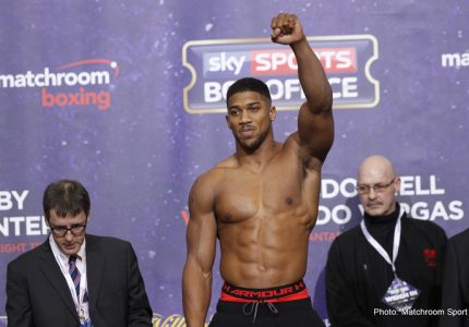 Showtime Signs Anthony Joshua