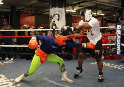 Shawn Porter Spars With TV & Radio Personality Charlamagne Tha God In Special Event At Gleason's Gym