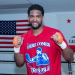 """Dominic """"Trouble"""" Breazeale - LONDON (June 16, 2016) – Undefeated World Ranked Heavyweight Contender and 2012 U.S. Olympian Dominic """"Trouble"""" Breazeale (17-0, 15 KOs) arrived at London Heathrow Airport on Thursday afternoon ahead of his world title challenge against IBF Heavyweight Champion Anthony Joshua (16-0, 16 KOs) on Saturday, June 25 on SHOWTIME BOXING INTERNATIONAL® from The O2 in London, live on SHOWTIME."""