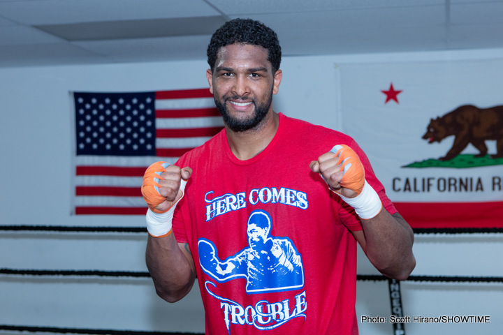 "Dominic ""Trouble"" Breazeale - LONDON (June 16, 2016) – Undefeated World Ranked Heavyweight Contender and 2012 U.S. Olympian Dominic ""Trouble"" Breazeale (17-0, 15 KOs) arrived at London Heathrow Airport on Thursday afternoon ahead of his world title challenge against IBF Heavyweight Champion Anthony Joshua (16-0, 16 KOs) on Saturday, June 25 on SHOWTIME BOXING INTERNATIONAL® from The O2 in London, live on SHOWTIME."