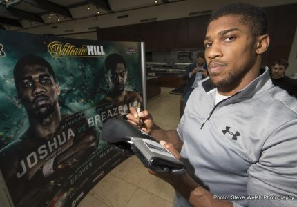 Anthony Joshua will fight November 26th, opponent and venue to be revealed soon says Hearn