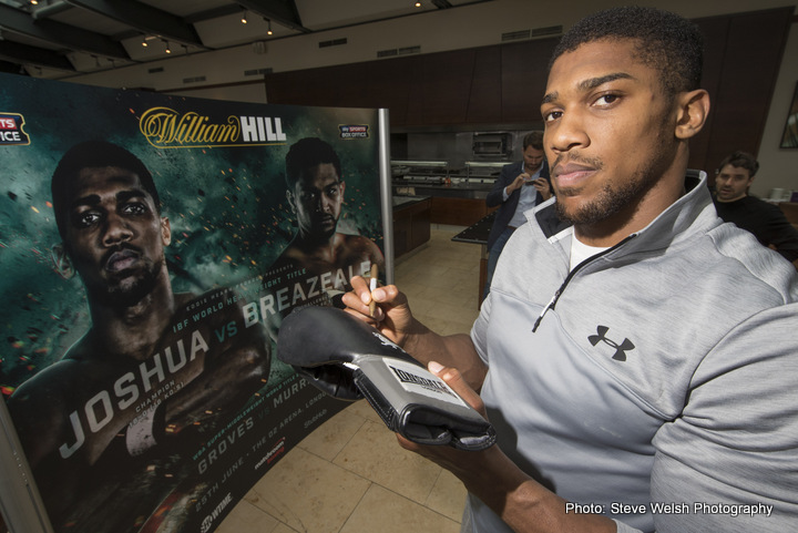 Anthony Joshua Dominic Breazeale Boxing News British Boxing