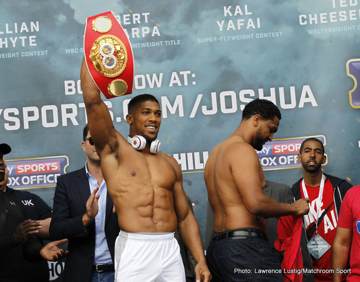 Anthony Joshua Wladimir Klitschko Boxing News British Boxing