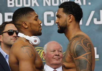 Anthony Joshua-Dominic Breazeale weigh-in: Joshua 241, Breazeale 255
