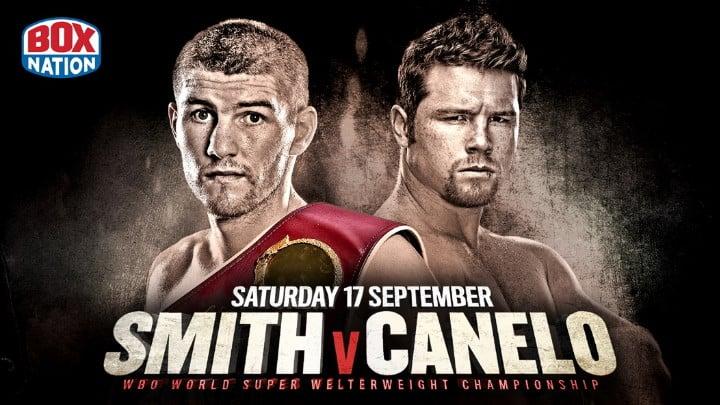 """Liam Smith Oscar De La Hoya Saul """"Canelo"""" Alvarez Boxing News"""