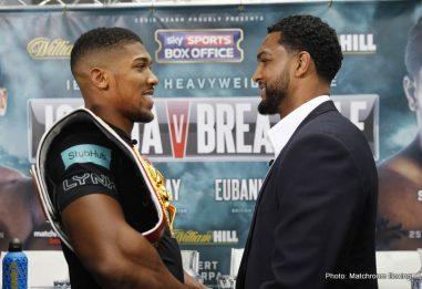 Anthony Joshua Dominic Breazeale Boxing News