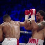 Tom Doran - Making his first defense of his IBF heavyweight title, Anthony Joshua (17-0, 17 KOs) gave American Dominic Breazeale (17-1, 15 KOs) a bad beating in defeating him by a 7th round knockout on Saturday night at the O2 Arena in London, UK. Joshua put the game but limited Breazeale down two times in the 7th. The fight was stopped at 1:01 with Breazeale on the canvas unable to get up. He was too hurt.