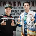 "Ruslan Provodnikov - (Photos credit: Amanda Westcott/SHOWTIME) VERONA, N.Y. (June 9, 2016) – The six fighters, including main eventers Ruslan ""The Siberian Rocky"" Provodnikov and John ""The Gladiator"" Molina, who will compete on this Saturday's SHOWTIME CHAMPIONSHIP BOXING® tripleheader live on SHOWTIME® (9 p.m. ET/6 p.m. PT), participated in the final press conference Thursday at Turning Stone Resort Casino here."