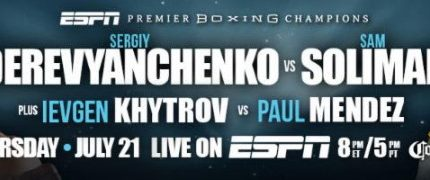 Sergiy Derevyanchenko takes on Sam Soliman on 7/21