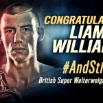 Liam Williams - Welshman Liam Williams (15-0-1) produced a dramatic 11th round stoppage of Londoner Gary Corcoran (15-1) to retain his British and Commonwealth super-welterweight belts.