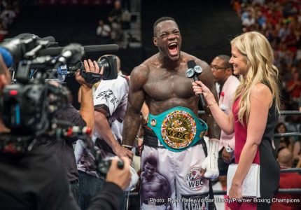 "Deontay Wilder wants title fight unification with Anthony Joshua next year: ""2017 is all about risk-taking"""