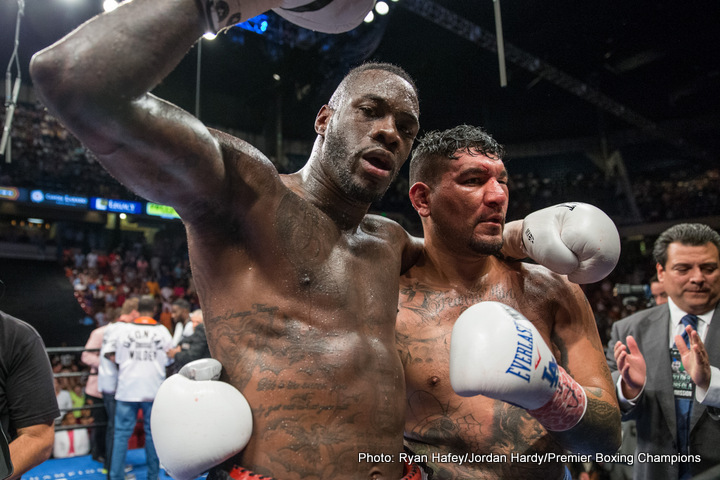 Deontay Wilder Dillian Whyte Eddie Hearn Boxing News