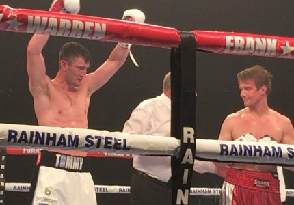 Tommy Langford finishes Laine in seven to set up Eubank Jr. British title fight